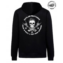 Pánská mikina Outlaw Bastards Skull Hoodie Zipper