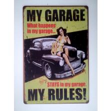 Plechová americká US cedule Rocka My Garage