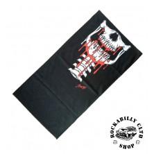 Nákrčník Rocka Neck Tube Mouth Skull Bloody