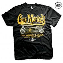 Pánské tričko Gas Monkey Garage Green Hot Rod