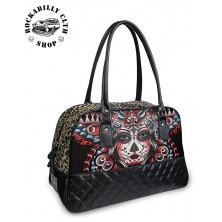 Dámská taška kabelka velká retro rockabilly pin-up Liquor Brand Butterfly