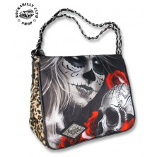 Dámská taška kabelka retro rockabilly pin-up Liquor Brand Shoulder Chain Bag Eternal Bliss