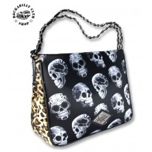 Dámská taška kabelka retro rockabilly pin-up Liquor Brand Shoulder Chain Bag Day Of The Dead