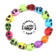 Náramek lebky Rocka Bracelet Skulls Color