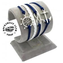 Náramek námořnický Rocka Rudder Anchor Blue
