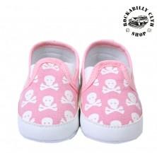 Dětské botičky Rocka Skulls Pink