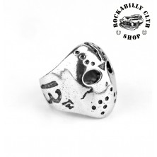 Prsten ocelový Rocka Skull Friday the 13th Silver