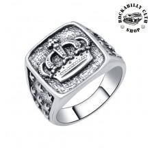 Prsten ocelový Rocka King Of Everything Silver