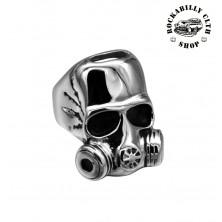 Prsten ocelový Rocka Toxic Skull Silver