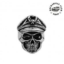 Prsten ocelový Rocka Leader Skull Silver