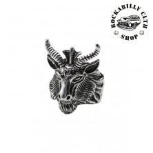 Prsten ocelový Rocka 666 Silver
