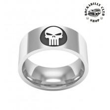 Prsten ocelový Rocka Punisher Ring Silver
