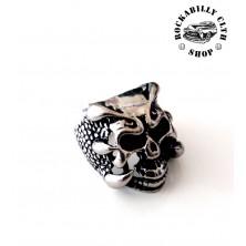Prsten ocelový Rocka Predator Skull Silver