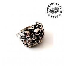 Prsten ocelový Rocka Horror Skulls Silver