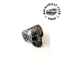 Prsten ocelový Rocka Vintage Skull Silver