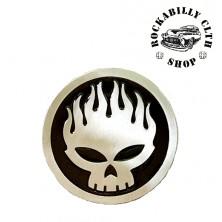 Přezka na pásek Rocka Skull Black / Silver