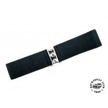 Elastický retro pásek Banned černý