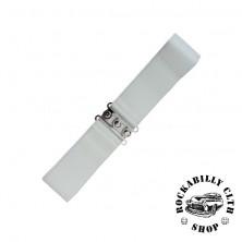 Elastický retro pásek Banned bílý