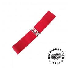 Elastický retro pásek Banned červený
