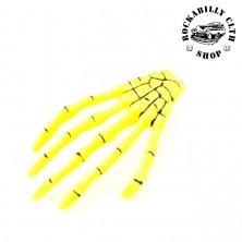 Sponka do vlasů horror Rocka Hairclip Bones Yellow