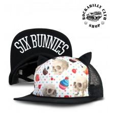 Dětská truckerka Six Bunnies Cupcake Skull Black