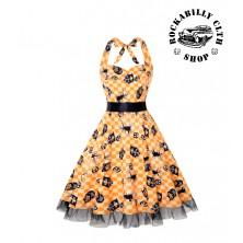 Dámské šaty Rockabilly Retro Pin Up Barbara Sweet Dreams Yellow
