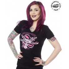 Tričko dámské Sourpuss Clothing Rockin Bones Tee