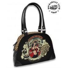 Dámská taška kabelka retro rockabilly pin-up Hotrod Hellcat Heaven Sent