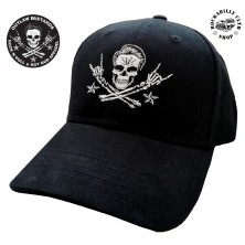Kšiltovka Outlaw Bastards Flexfit Skull Black
