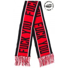 Zimní šála Sourpuss Fuck You Knit Scarf Red