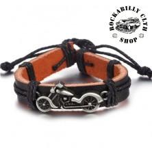 Kožený náramek motorka Rocka Bracelet Chopper