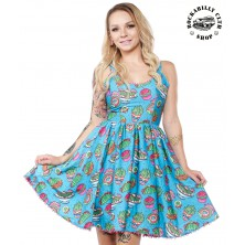 Dámské šaty Rockabilly Retro Pin Up Sourpuss Clothing Prickly Delights Sweets Dress