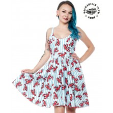 Dámské šaty Rockabilly Retro Pin Up Sourpuss Clothing Lobster Sweets Dress