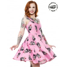 Dámské šaty Rockabilly Retro Pin Up Sourpuss Clothing Stray Cats Polka Dot Sweets Dress