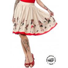 Dámská sukně Sourpuss Clothing Hula Gals Border Sweets Skirt