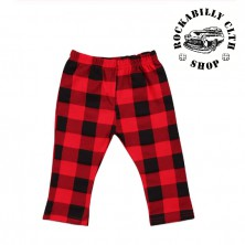 Dětské kostkované červenočerné kalhoty Rocka Baby