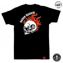 Tričko pánské Outlaw Bastards 8ball Skull