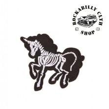 Nášivka Rocka Unicorn Skull