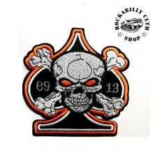 Nášivka Rocka Spade Skull