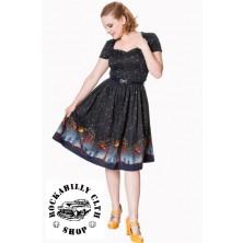 Dámské šaty Rockabilly Retro Pin Up Banned Lone Traveller Dress