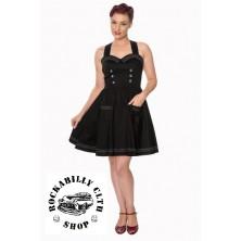 Dámské šaty Rockabilly Retro Pin Up Banned Where To Next Dress Blk