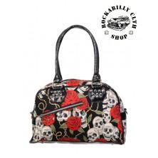 Dámská taška kabelka Banned Skull Roses Bag