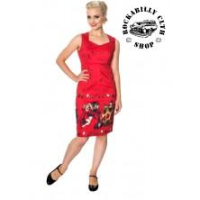 Dámské šaty Rockabilly Retro Pin Up Banned Vanity Pencil Dress