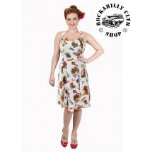 Dámské šaty Rockabilly Retro Pin Up Banned Dreamer Halterneck Dress