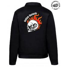 Pánská bunda Outlaw Bastards 8ball Skull Jacket