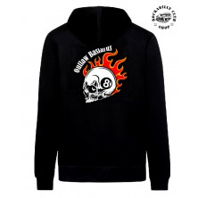 Pánská mikina Outlaw Bastards 8ball Skull Hoodie Zipper