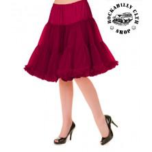 Spodnička dámská retro rockabilly pin-up Banned Walkabout Petticoat Bordeaux