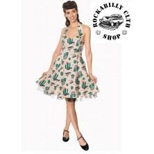 Dámské šaty Rockabilly Retro Pin Up Banned Lost And Found Halter Neck Dress