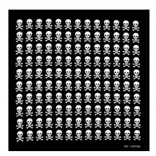 Šátek lebky Rocka Skulls Black/Wht