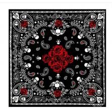 Šátek lebky Rocka Skulls & Roses
